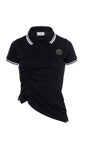 SS17 NAIDRA POLO SHIRT BLACK