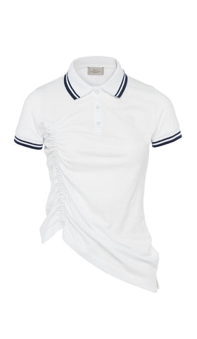 SS17 RUNWAY NAIDRA POLO SHIRT WHITE