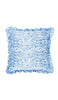 BLUE BOTANICAL CUT OUT CUSHION