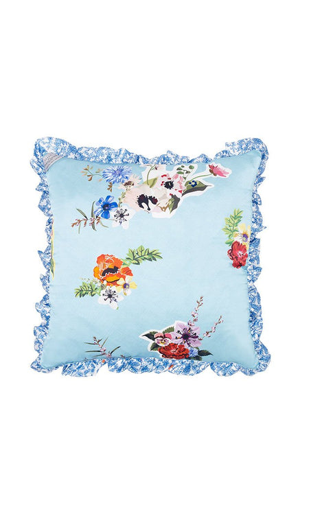 BORDER BLOSSOM CUSHION