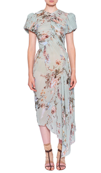 Eau de Nil Floral Tessa Dress