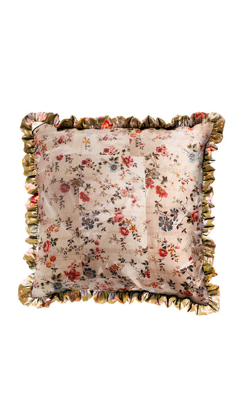 GARDEN FLORAL & NUDE PLASTIC FLORAL CUSHION