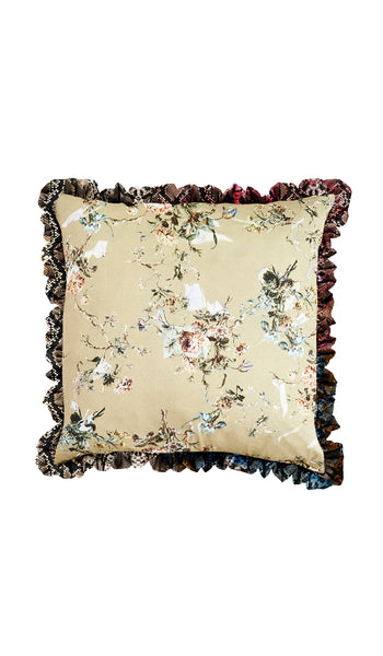 SNAKE & STONE FLORAL CUSHION
