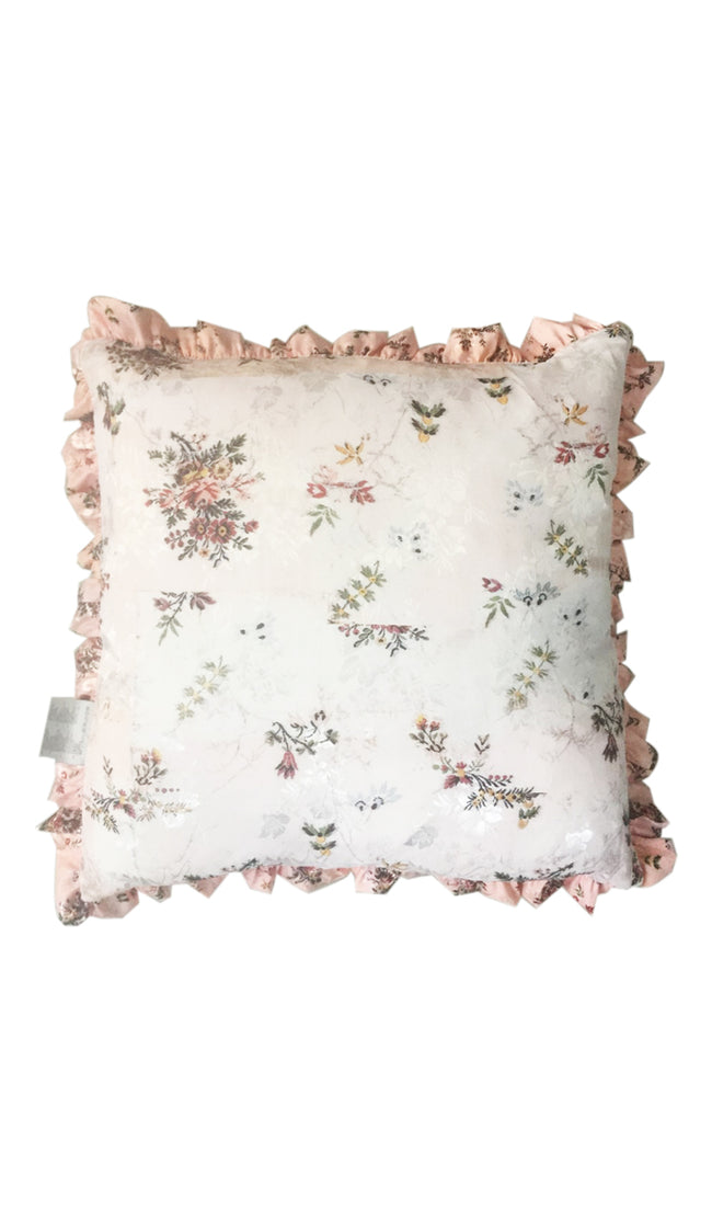 DAPHNE FLORAL PEACH & PINK CUSHION