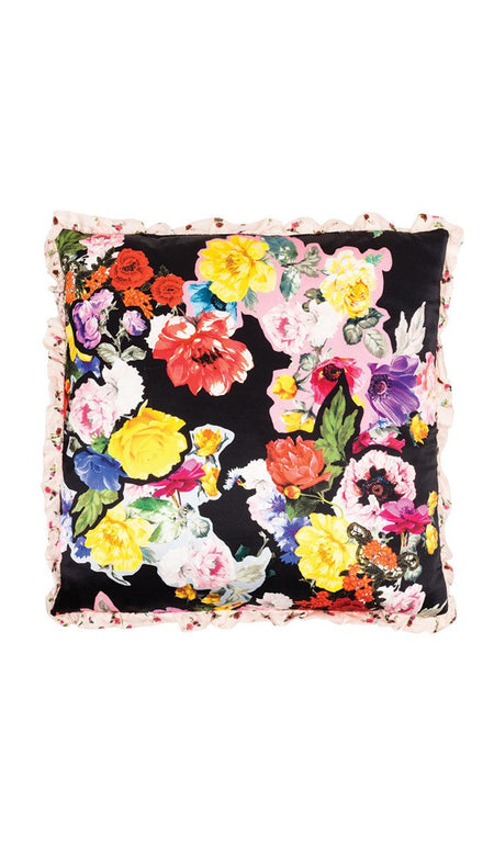 BLACK FLORAL SKULL QUILTED EIDERDOWN