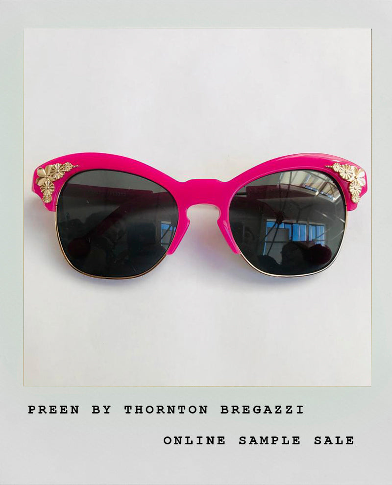 GOLD EMBELLISHED PINK SUNGLASSES