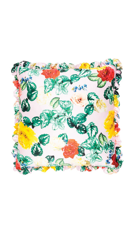 EXCLUSIVE BLUE BOTANICAL CUT OUT CUSHION