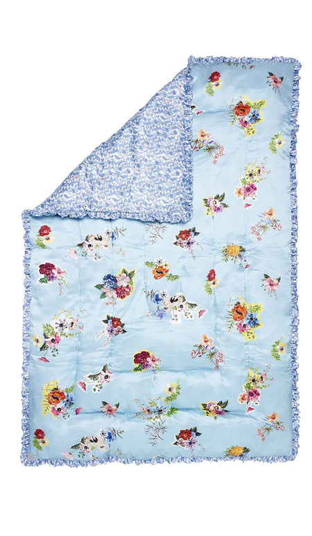 GRAPHIC DUCK EGG QUILTED EIDERDOWN