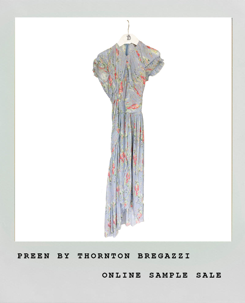 TAPESTRY PLEATED DRESS
