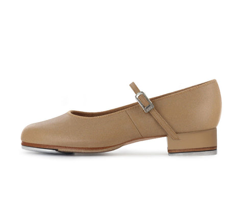 Bloch Tap On Girls Leather Tap Shoe TAN