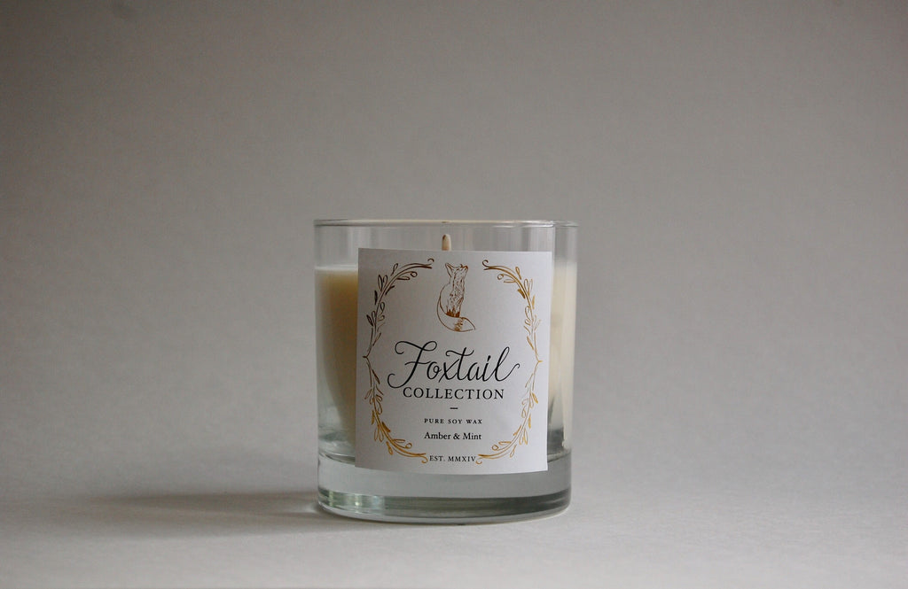 Amber & Mint - Standard Glass Candle