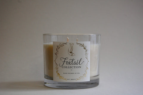 Balsam & Aspen Leaf - Large Glass Candle