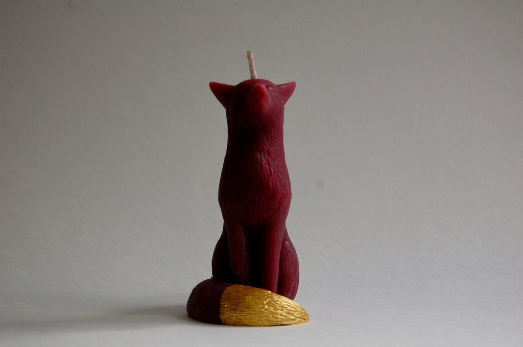 Plum - Fox Pillar Candle