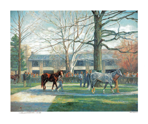 Kentucky Derby Horses Walking Print