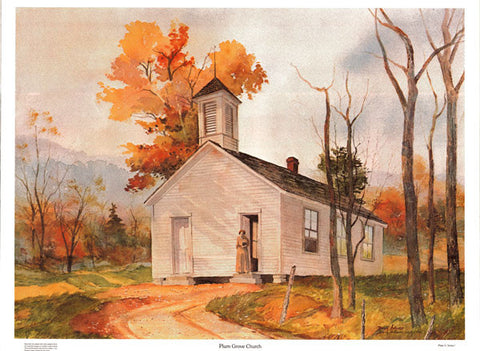 Plum Grove Church Print