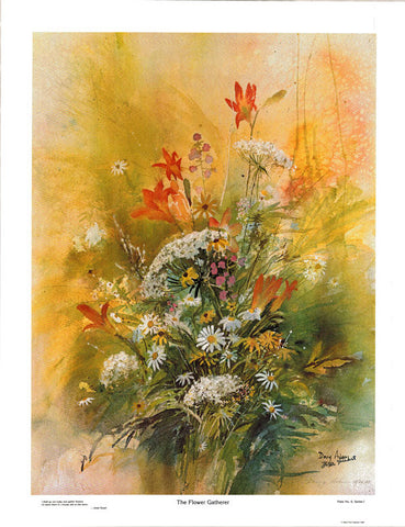 The Flower Gatherer Print