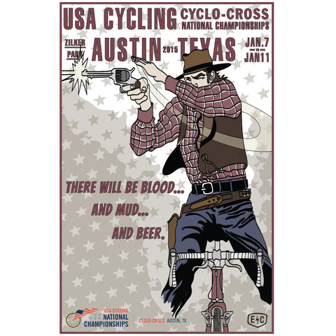 2015 Cyclo-Cross National Championships Commemorative Poster - Endurance Conspiracy