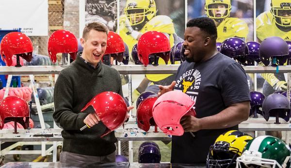 <center>Detroit-based football helmet manufacturer showcases use of Internet to grow business</center>