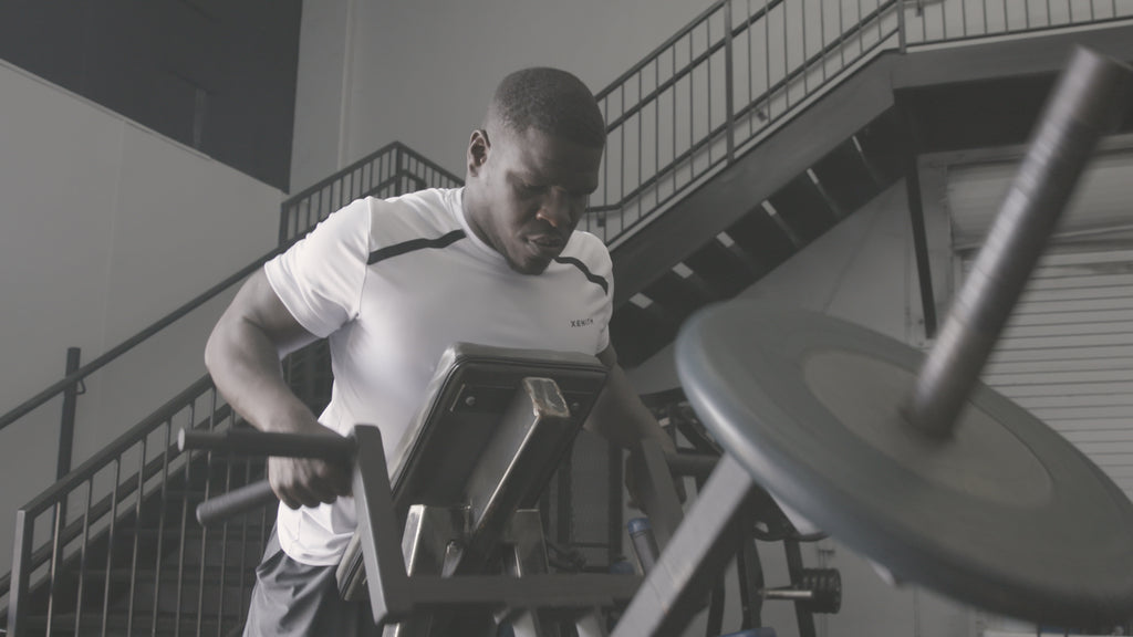 Frank Gore working out