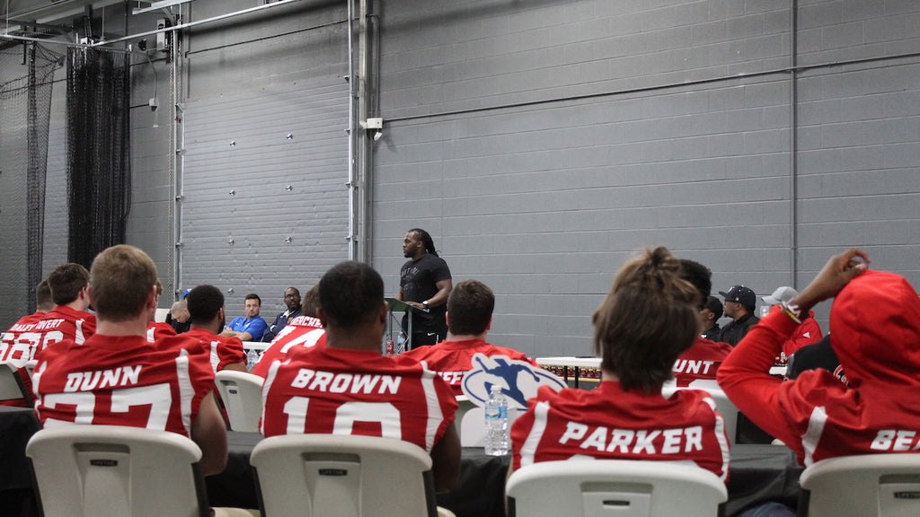 Joique Bell Inspiring High School Football Players