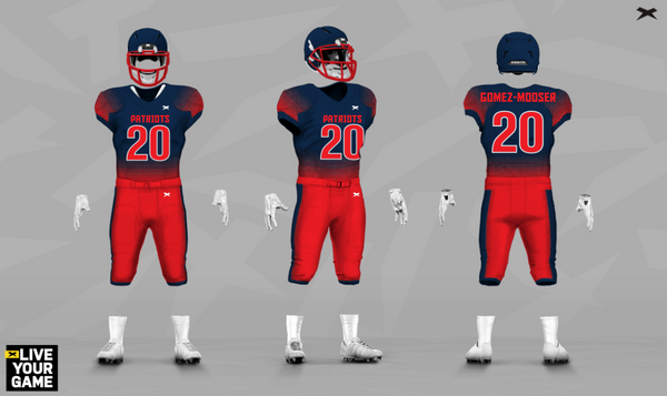 The Patriots Xenith Uniform Design