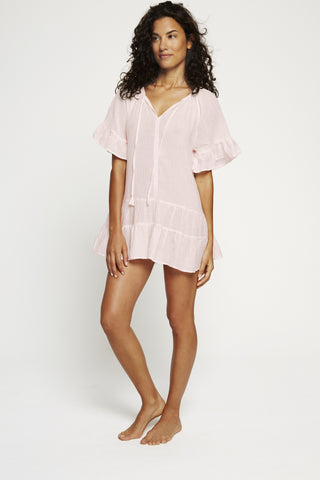 Bell Sleeve Tunic- Pink