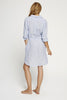 Shirt Dress- Blue Linen