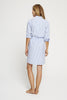Shirt Dress-Men's Print Blue Stripe