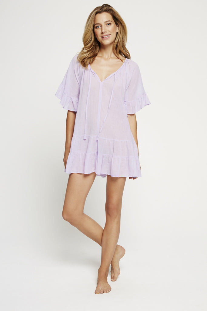 Bell Sleeve Tunic - Lavender