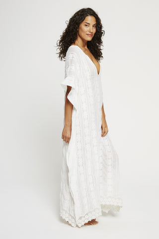 Cotton/Lace Kaftan