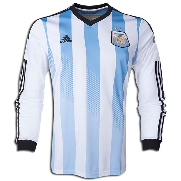 Argentina Jersey Home Long Sleeve  2014 S, Argentina Soccer Jersey - Adidas, G2G Sport Chicago