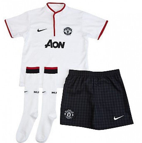 Manchester United Uniform Boys Away Mini Kit 2012-2013 XS, Manchester United Soccer jersey - Nike, G2G Sport Chicago