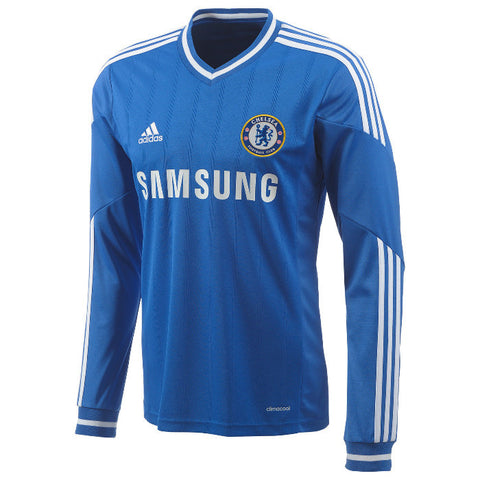 Chelsea Jersey Home Long Sleeve 2013 2014 , Chelsea Soccer Jersey - Adidas, G2G Sport Chicago