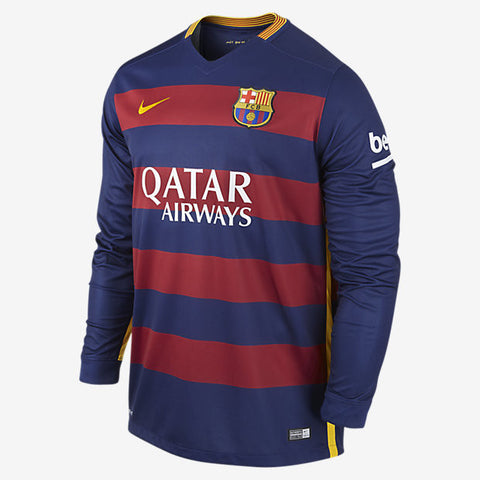 Barcelona Long Sleeves Jersey 2015 2016 , barcelona jersey long sleeves - Nike, G2G Sport Chicago