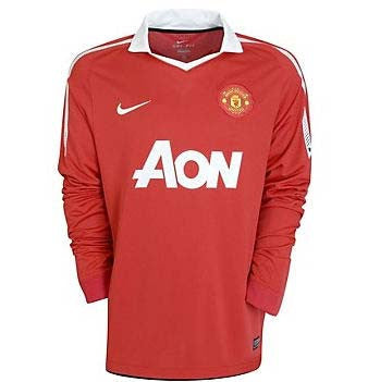 Manchester United Jersey Long Sleeve 2010-2011 S, Manchester United Soccer jersey - Nike, G2G Sport Chicago