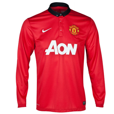Manchester United Jersey Long Sleeve 2013-2014 S, Manchester United Soccer jersey - Nike, G2G Sport Chicago