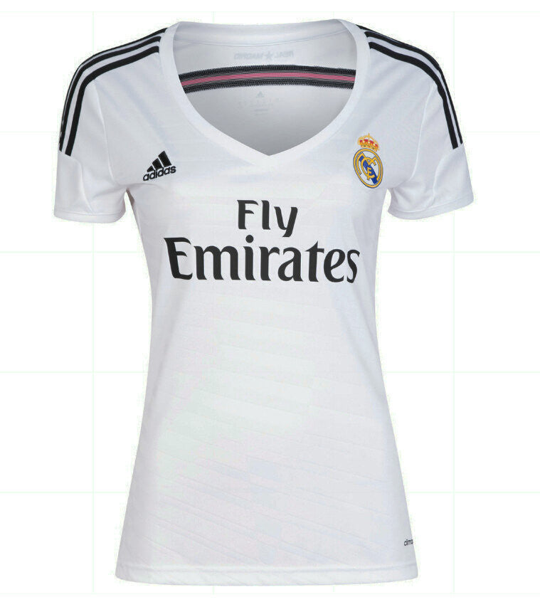 Real Madrid Women Jersey 2014-2015 XS, Real Madrid soccer jersey - Adidas, G2G Sport Chicago