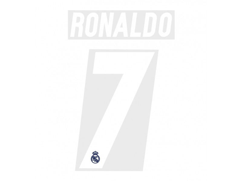 ronaldo real madrid name set print