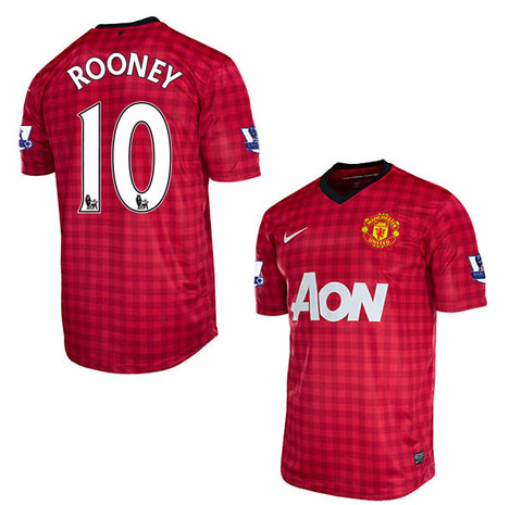 Rooney Jersey Manchester United Youth/Boys 2012-2013 Select Size, Rooney Jersey Collection - Nike, G2G Sport Chicago