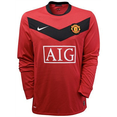 Manchester United jersey Long Sleeve 2009-2010 M, Manchester United Soccer jersey - Nike, G2G Sport Chicago