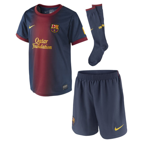 Barcelona Boys Uniform 2012 2013 XS(3-4 yrs), Barcelona home soccer jersey - Nike, G2G Sport Chicago