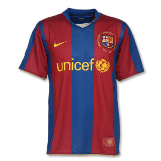 Barcelona Jersey Home Youth and Boys 2007 2008 S, Barcelona home soccer jersey - Nike, G2G Sport Chicago