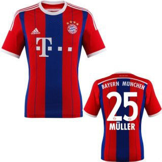 Muller Jersey Bayern Munich Boys and Youth Sizes , muller jersey bayern youth and boys - Adidas, G2G Sport Chicago