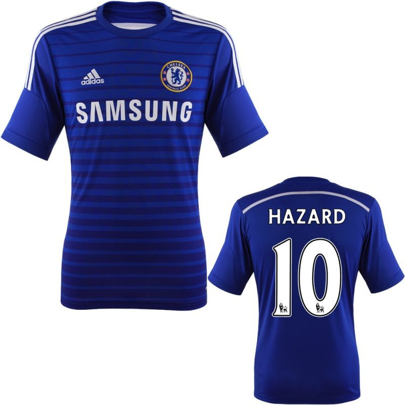 Hazard Jersey Chelsea 2014 2015 + EPL Badges , Chelsea Soccer Jersey - Adidas, G2G Sport Chicago