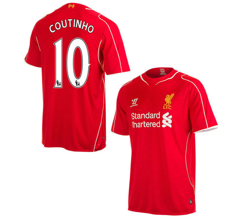 Coutinho Jersey Liverpool Youth and Boys Sizes , coutinho jersey liverpool - Warrior, G2G Sport Chicago