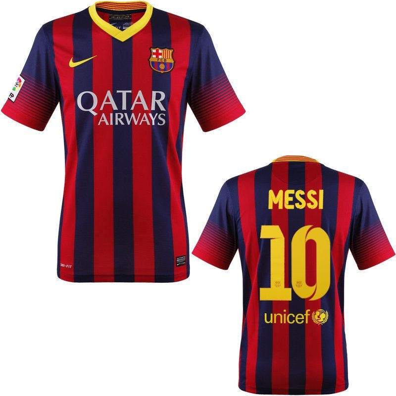 Messi Jersey Barcelona 2013-2014 S, Messi Barcelona Home Jersey - Nike, G2G Sport Chicago