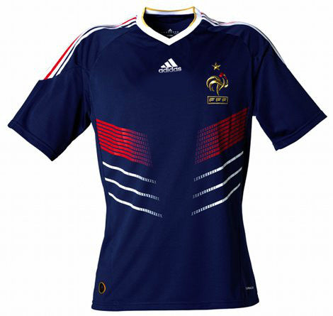 France Jersey 2010 Adult S, France Soccer Jersey - Adidas, G2G Sport Chicago