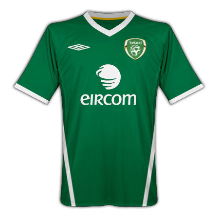Ireland jersey 2010 Select Size, Ireland Soccer Jersey - Umbro, G2G Sport Chicago