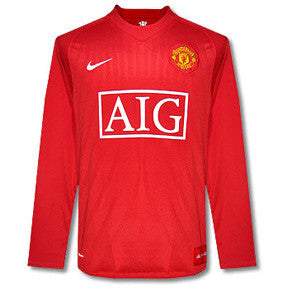 Manchester United Jersey Long Sleeve Home 2007-2008 L, Manchester United Soccer jersey - Nike, G2G Sport Chicago