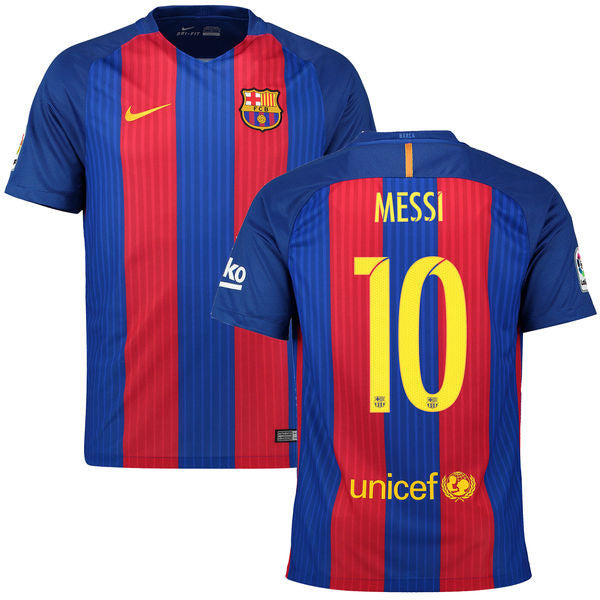 Messi Jersey Barcelona 2016 2017 (Sponsor Included) , Messi Barcelona Jersey - Nike, G2G Sport Chicago